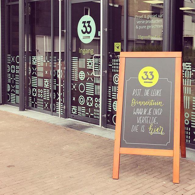 Pand restaurant 33 Good Food aan de Kamstraat te Helmond. Gevestigd tussen de Rabobank en de Hema, aan de grote parkeerplaats.